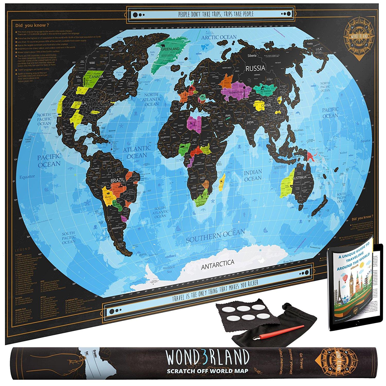 Gadget: Cartina del Mondo da Grattare