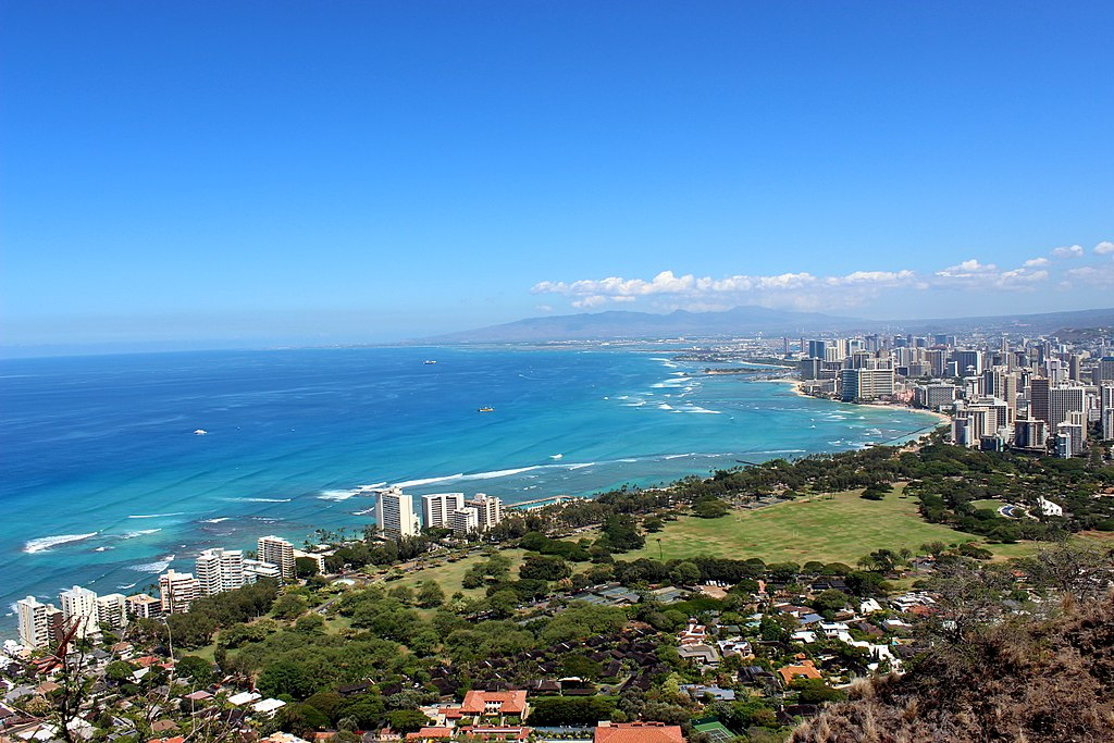 Waikiki Beach vista da Diamond Head
