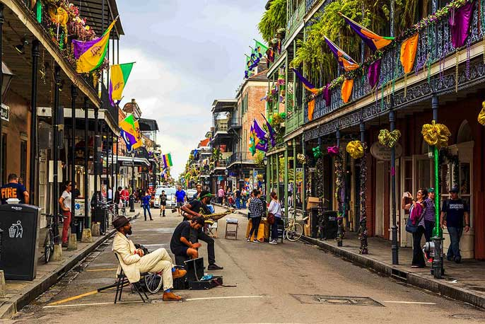 Il French Quarter di New Orleans