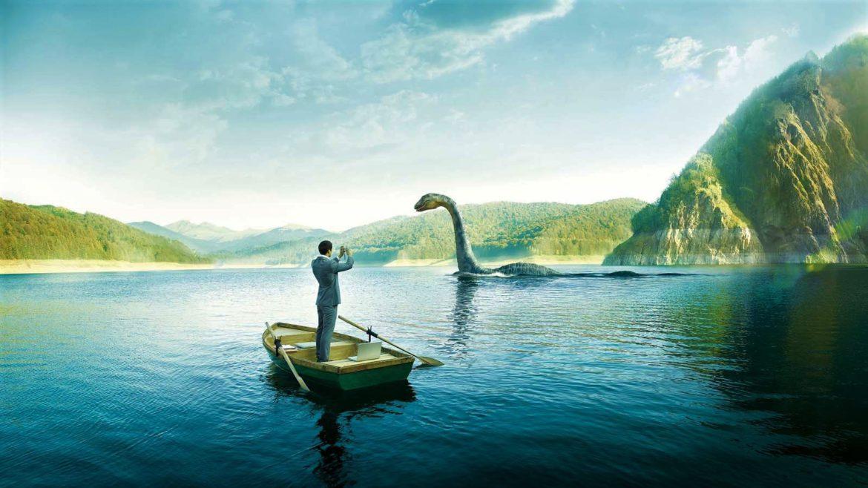 Illustrazione del mostro di Loch Ness