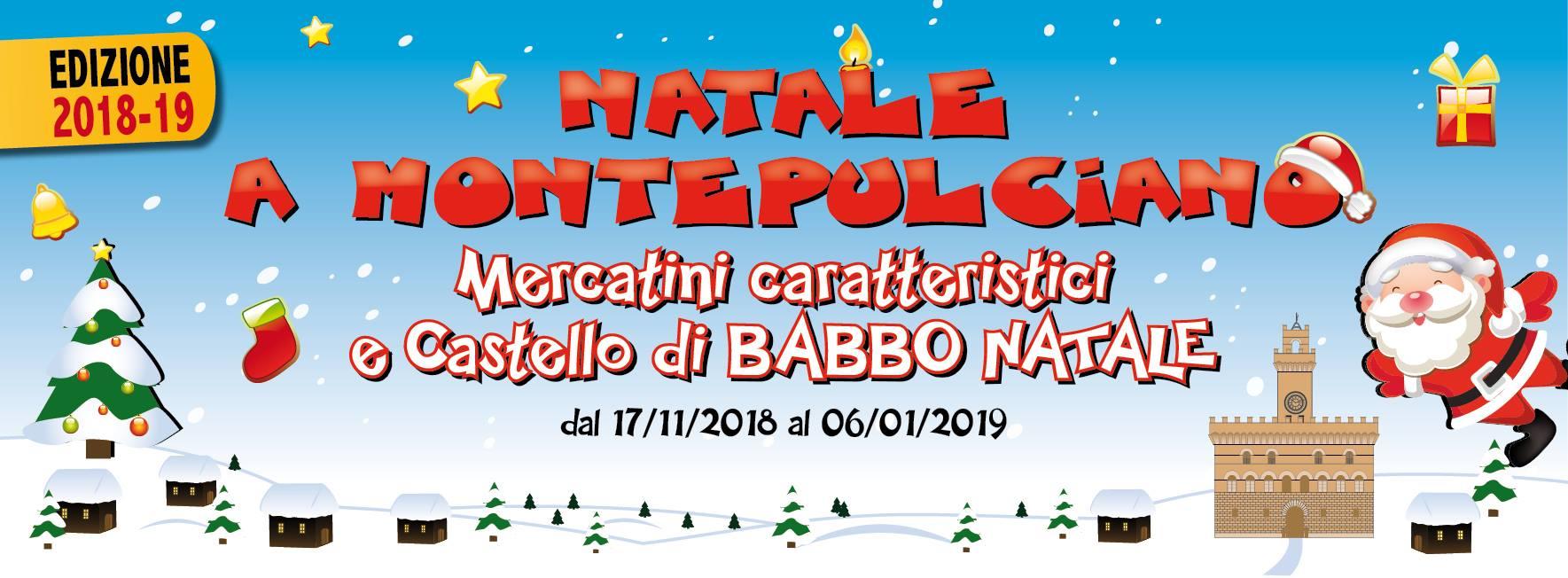 Mercatini di Natale 2018 a Montepulciano