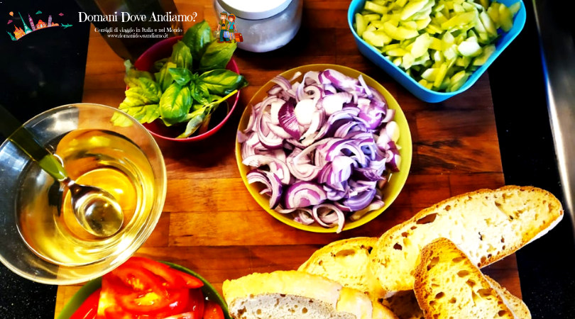 Gli ingredienti della Panzanella