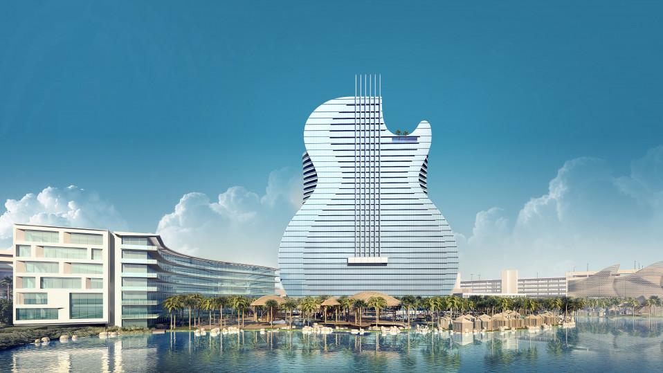 L'hotel a forma di chitarra