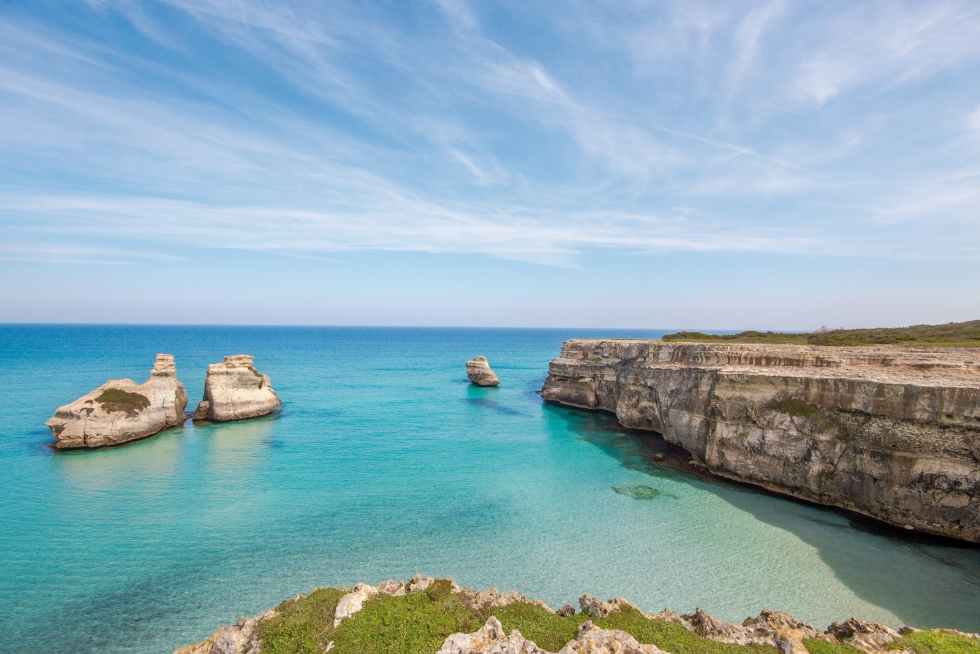 Le 7 spiagge più belle del Salento: Spiaggia delle Due Sorelle.