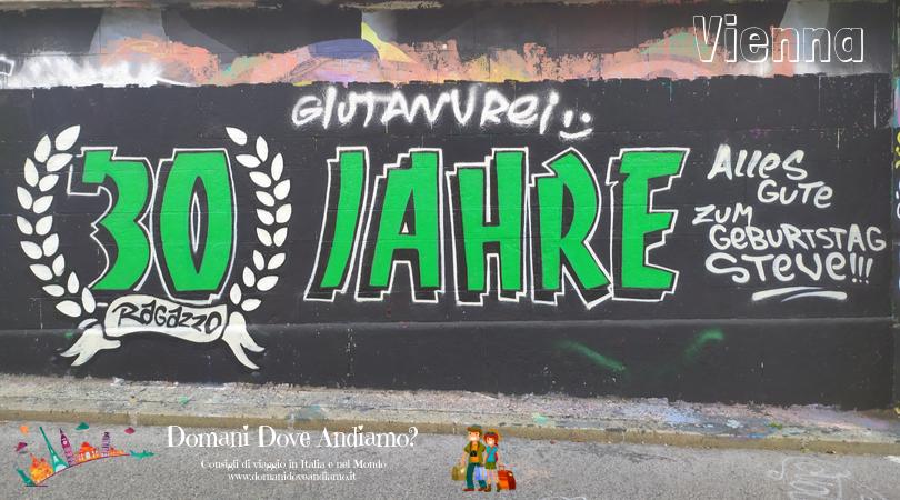 Uno dei tanti murales presenti lungo il Danubio