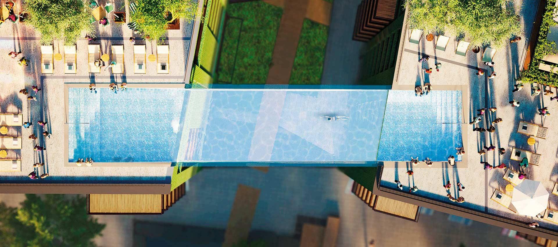 La Sky Pool vista dall'alto