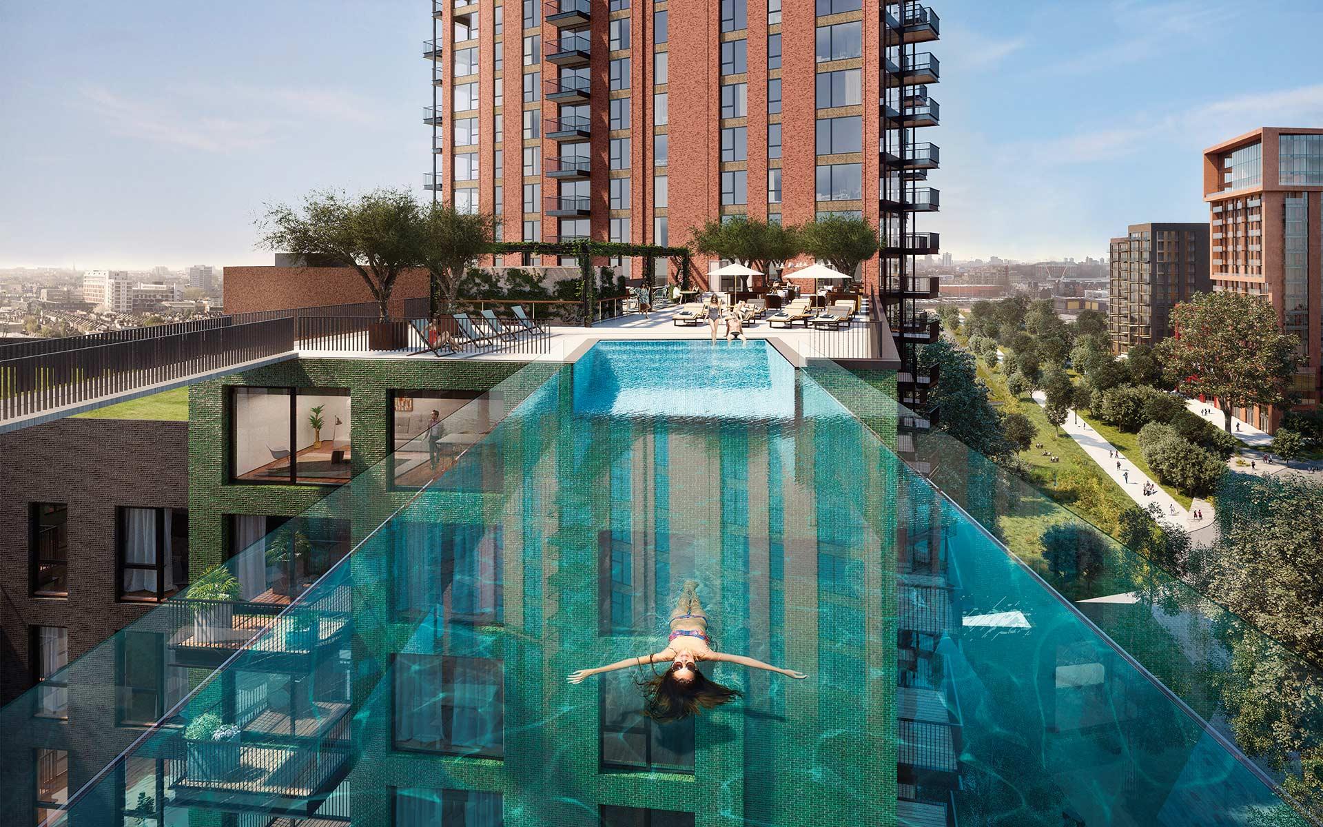 La Sky Pool di Embassy Garden