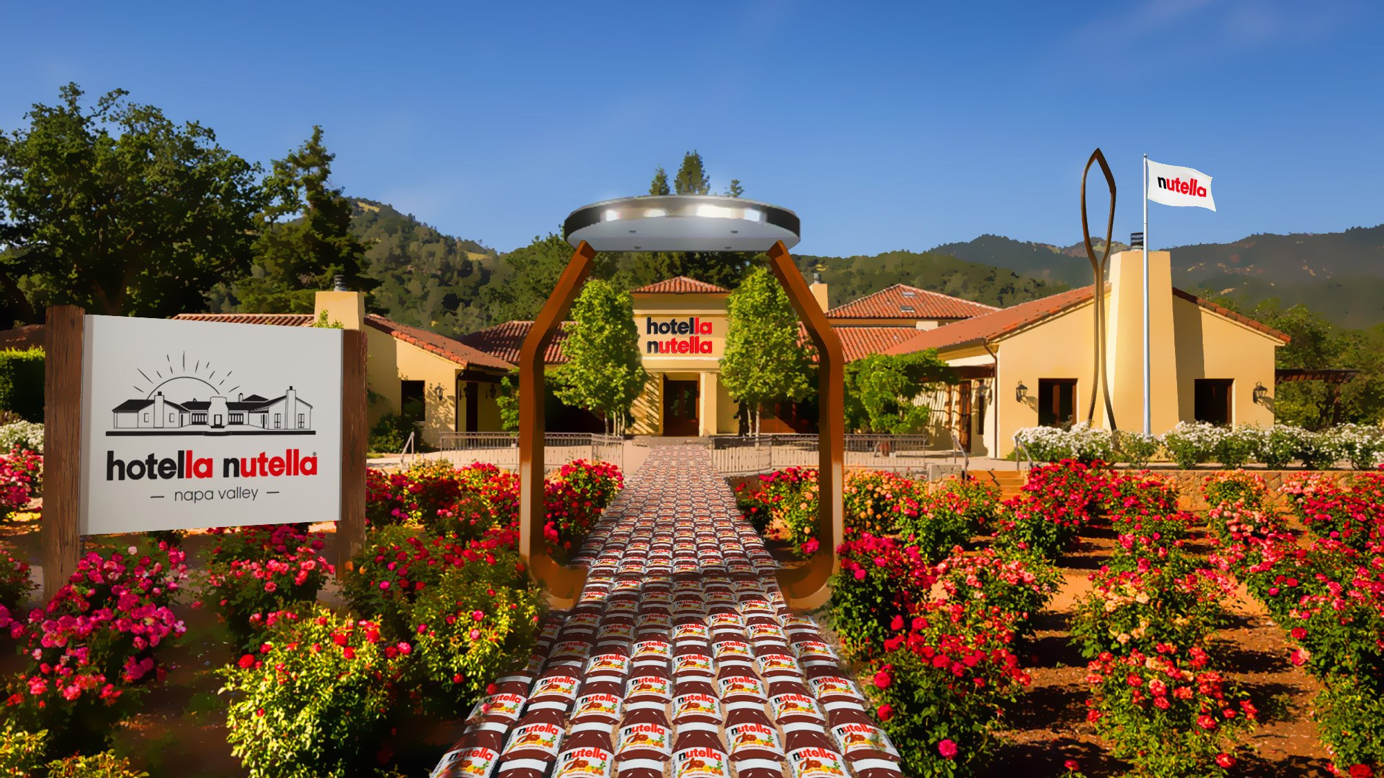 Hotella Nutella: in California sarà possibile alloggiare in un Hotel dedicato alla Nutella!