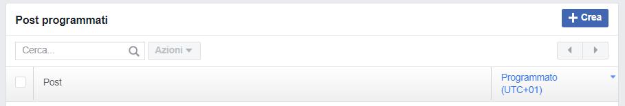 Utilizzate la pianificazione sulla Pagina Facebook