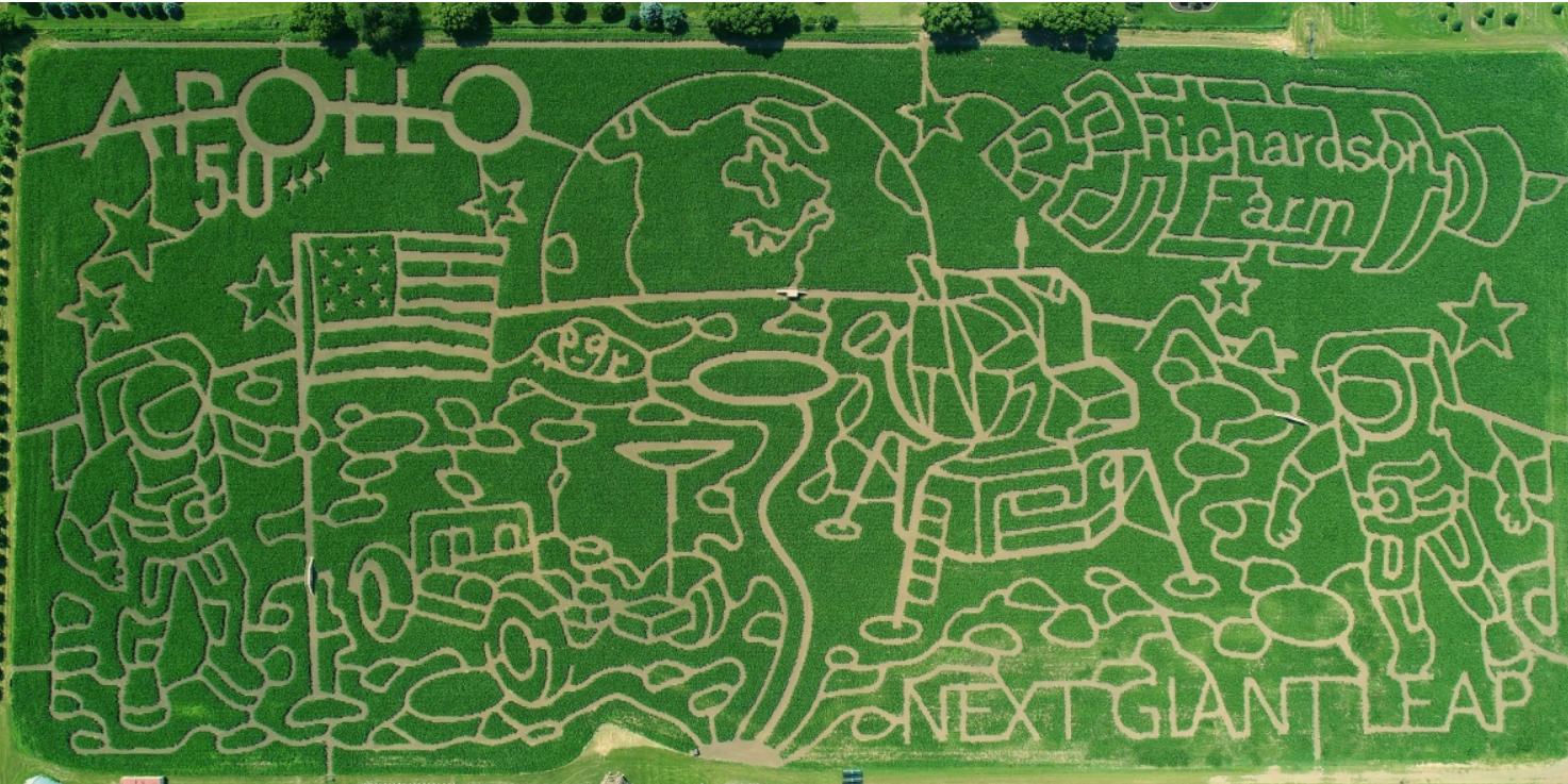 Nel 2019 il labirinto di mais celebra il 50° anniversario dell'Apollo 11