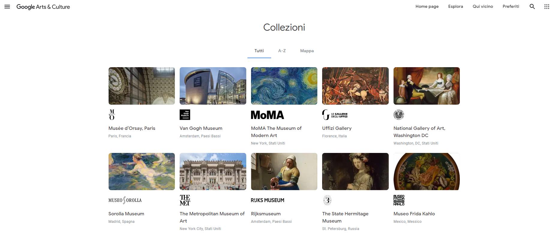 Google Arts & Culture: in giro per il mondo stando a casa